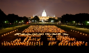Falun Gong Candlelight Vigil at US Capitol - by Edward Dai