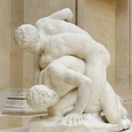 Uffizi_wrestlers_Magnier_Louvre